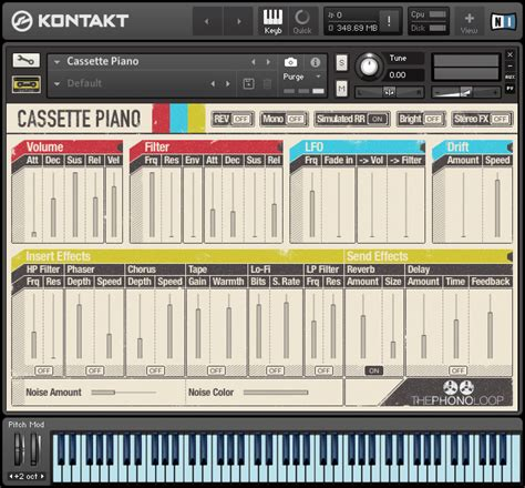 piano updated version 383654282x thephonoloop cassette piano for kontakt updated to v1 1