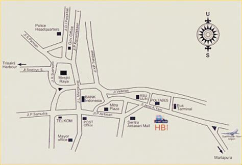 layout bandara syamsudin noor hotel banjarmasin international hbi boec locationhbi