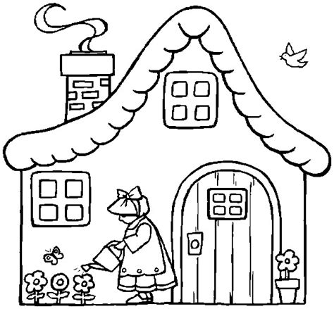 cottage house coloring pages printable easter coloring page cottage