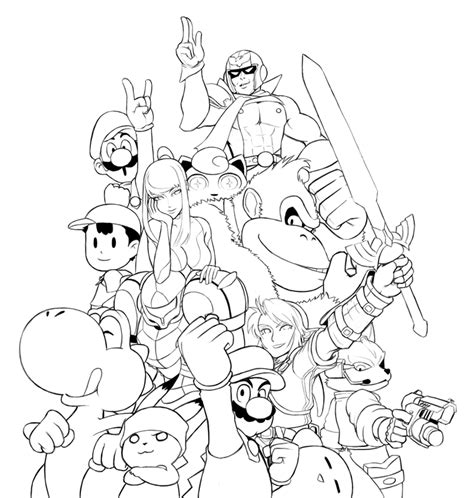 Free Coloring Pages Of Super Smash Bros Brawl Smash Bros Brawl Coloring Pages