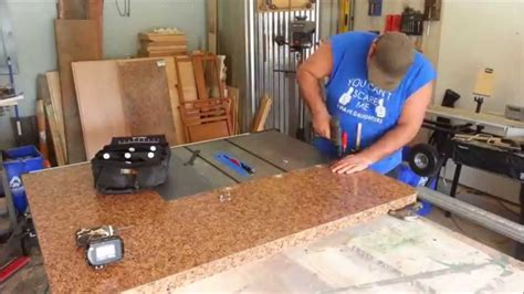How To Make A Table In R Diy Project Table Saw Extension And Out Feed Table Part