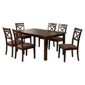 Dining Table Set At Target Dallas 7 Pieces Dining Table Set Wood Espresso Furniture