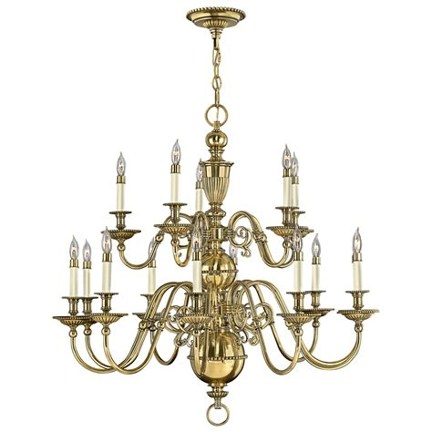 Lighting Chandeliers Traditional Traditional Flemish Brass Chandelier
