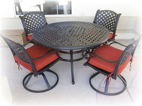 metal patio table and chairs set marceladick