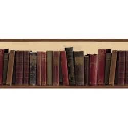 Sauder Bookcase Headboard Book Shelf Library Books Wallpaper Border All 4 Walls