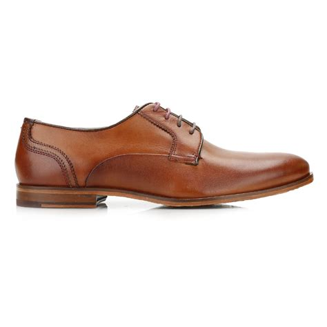 brown derby shoes ted baker mens brown derby shoes leather lace up plain