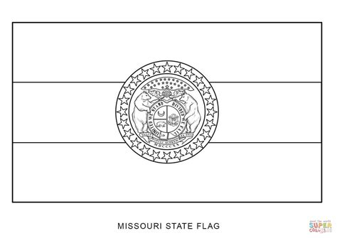 missouri state colors missouri state flag coloring page free printable