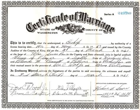 Is A Marriage Certificate Record Dearmyrtle S Genealogy Missing Marriage Record
