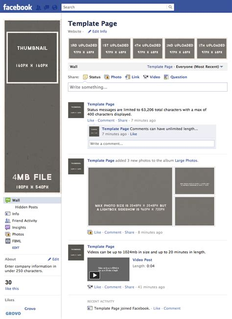 the gallery for gt facebook page template 2012