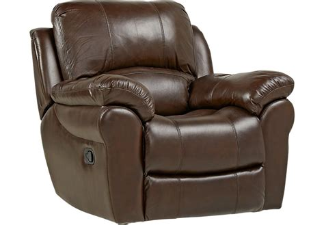 Vercelli Brown Leather Rocker Recliner Leather Recliners