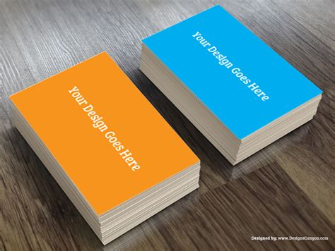 realistic greeting card template psd realistic business card mockup template free