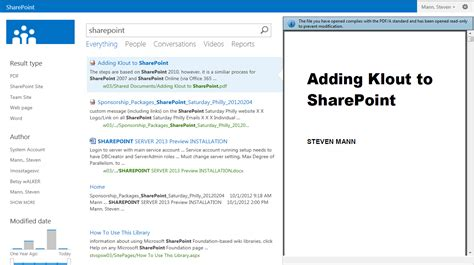 Search In Sharepoint 2013 Stevemann S Path Sharepoint 2013 Pdf Preview In Search Results
