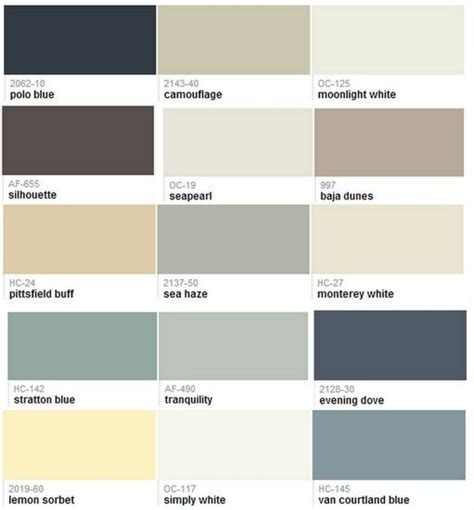 1000 images about paint whole house color palette on benjamin moore whole house paint color scheme by