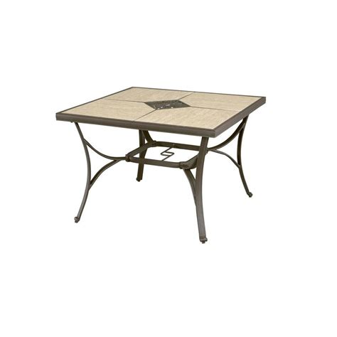 hton bay pembrey 40 in square patio dining table