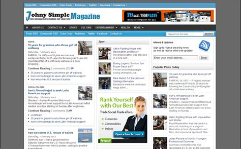 templates blogger magazine 75 awesome free blogger templates page 2 of 2 feedtip