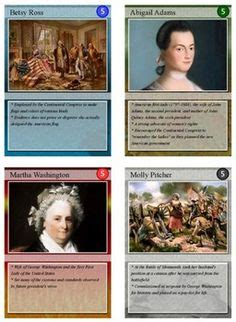 Revolutionary War Trading Cards Template by Technology On