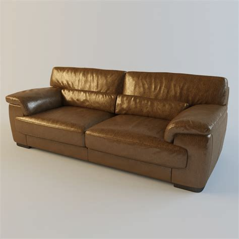 Montana Leather Sofa Brown Leather Sofa Montana 3d Max
