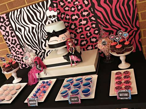 monster high printable party decorations monster high birthday party ideas photo 11 of 11 catch