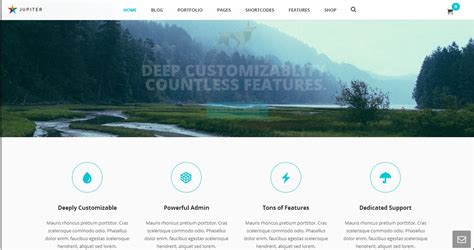 themes jupiter 108 best responsive business wordpress themes feedtip