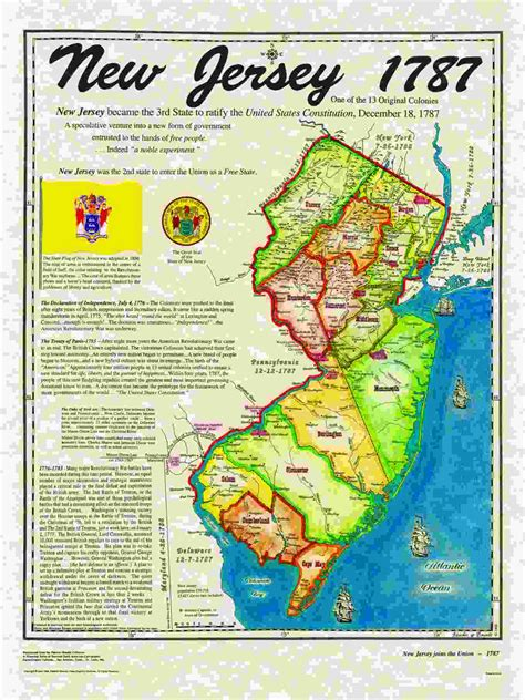 map of new jersey in colonial times original 13 states