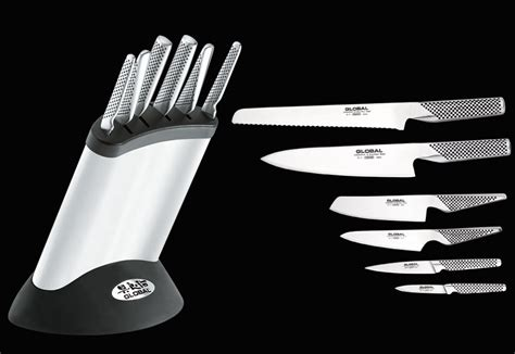 vanadium steel global design global synergy knife block set 187 petagadget