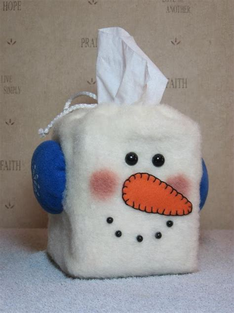 snowman craft projects quot snowman tissue box cover quot pattern 634 by se mn crafter