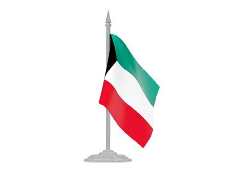 icon design kuwait flag with flagpole illustration of flag of kuwait
