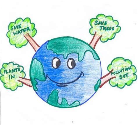 Essay About Save The Earth Caign by Go Green Save Earth Drawings