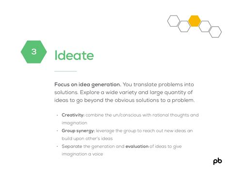 design thinking slideshare ideate focus on idea generation