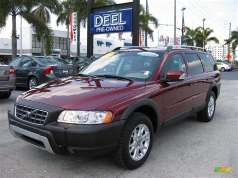 volvo xc70 2007 2007 ruby metallic volvo xc70 awd cross country