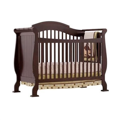 4 In 1 Fixed Side Convertible Crib In Espresso 04587 259 Fixed Side Convertible Crib