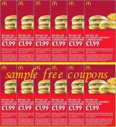 mcdonalds printable vouchers uk 2015 printable coupons mcdonalds coupons printable coupons