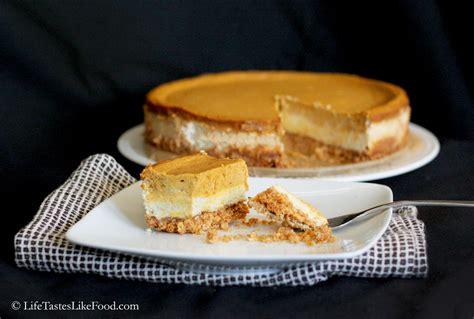 pumpkin cheesecake life tastes like food