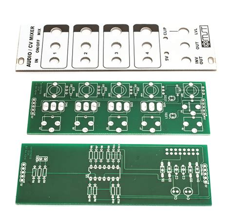 Pcb Mixer Audio mst 4 channel audio cv mixer pcb and panel combo