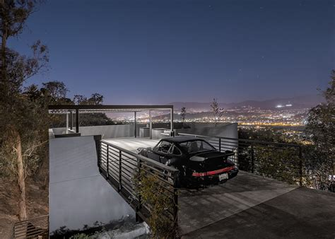 house car parking design relaxing hillside echo park home with rooftop carport