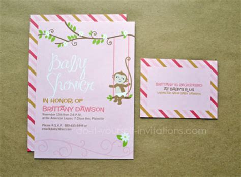 do it yourself baby shower invitations templates printable monkey baby shower invitations templates