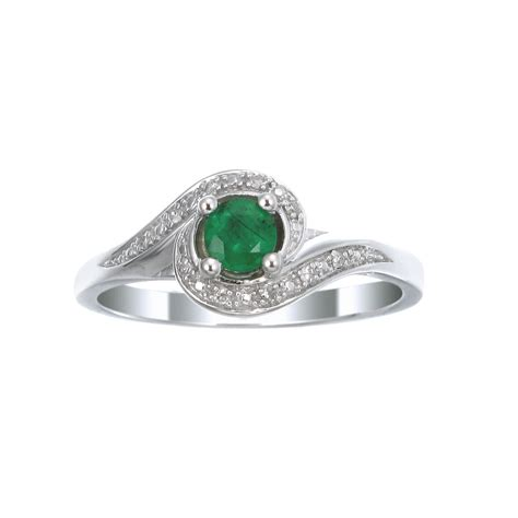 sterling silver emerald ring charm centres