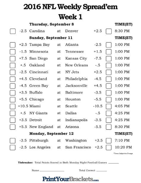 printable nfl schedule week 17 printable 2014 nfl schedule by week pick a winner autos post