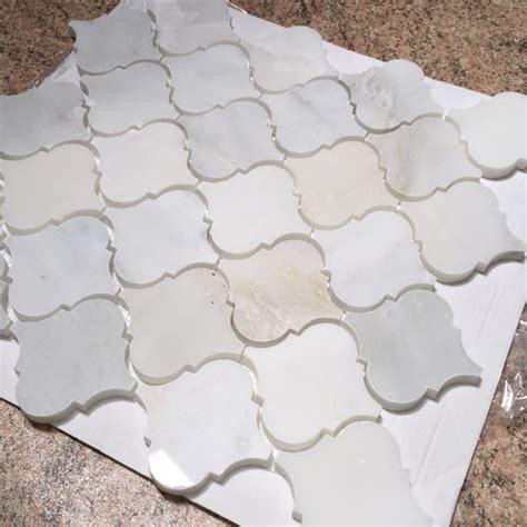 will this arabesque tile work with alaska white granite