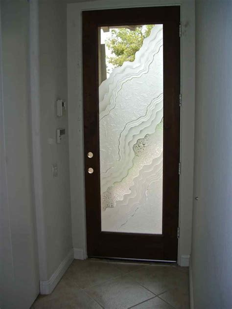 Frosted Glass Exterior Doors Etched Glass Doors 3d Carved Metamorphosis Design By Sans Soucie Sans Soucie Glass
