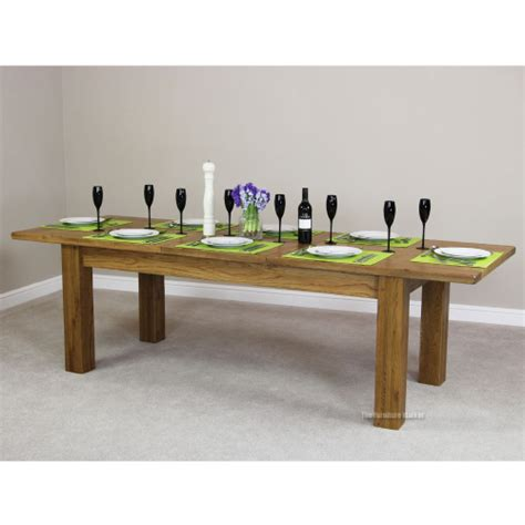 Rustic Dining Table Seats 10 Rustic Oak Large Extending Dining Table Seat 8 10 Country Furniture Rs17 Ebay