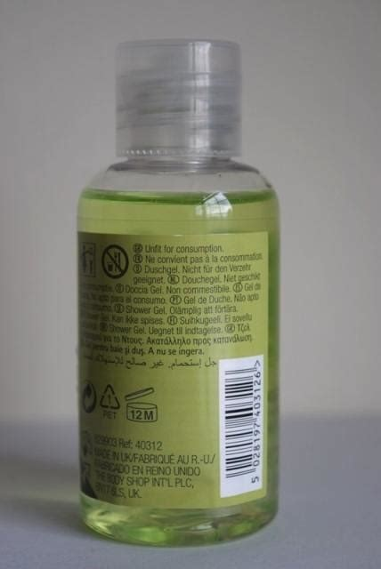 Bodyshop Shower Gel Mojito the shop mojito shower gel review