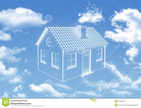 house in the sky house of clouds in the sky stock photo image 40304541