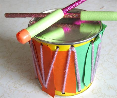How To Make A Musical Instrument Out Of Paper - crafty how to make a drum musical instrument set
