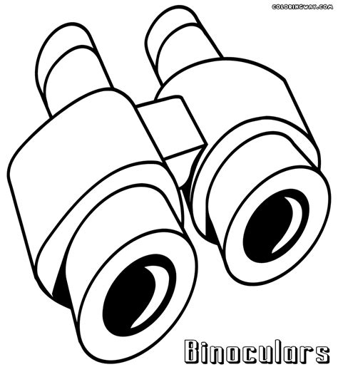 Color Sheet by Binoculars Coloring Pages Coloring Pages To And