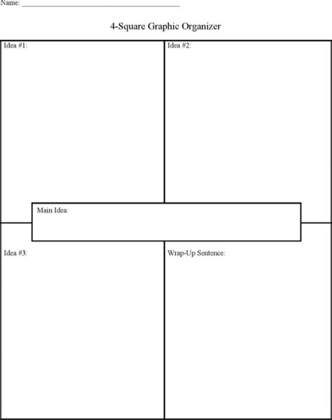 pretty blank four square writing template images gt gt 30