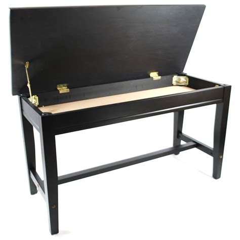 piano bench height frederick extended upright piano bench ebony satin
