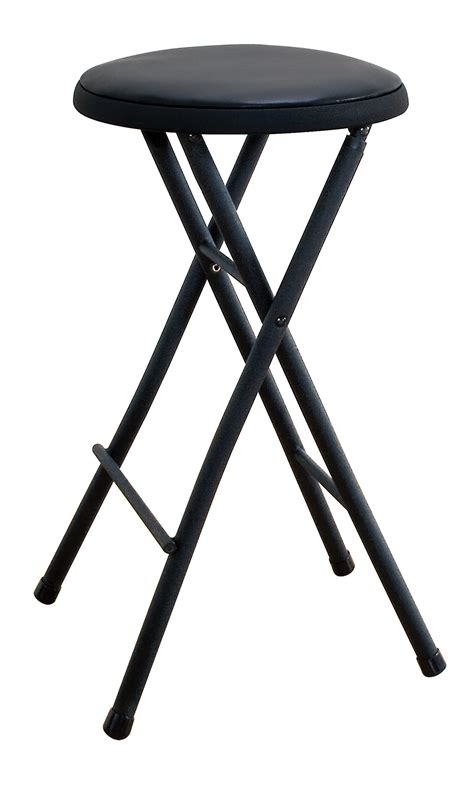 30 Inch High Folding Stool by Cosco Home And Office Products Black Lightweight Folding Stool