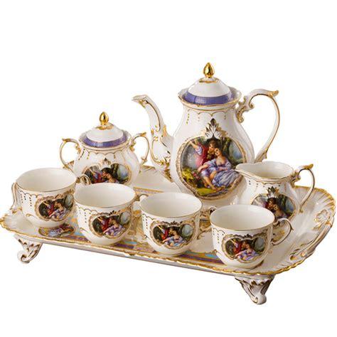 Coffee Set Exspreso Nari white coffee set fashion bone china tea set luxury gift box incoffee tea sets from home