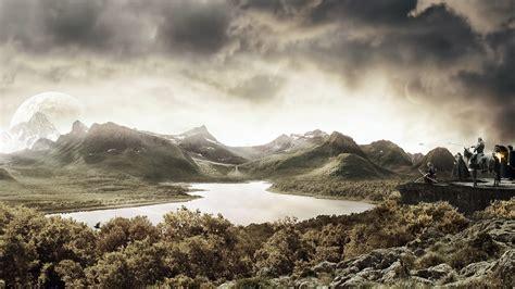 nuages illustration numérique paysages art fantasy Papier